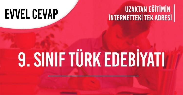 9. Sınıf Türk Dili ve Edebiyatı Test Çöz
